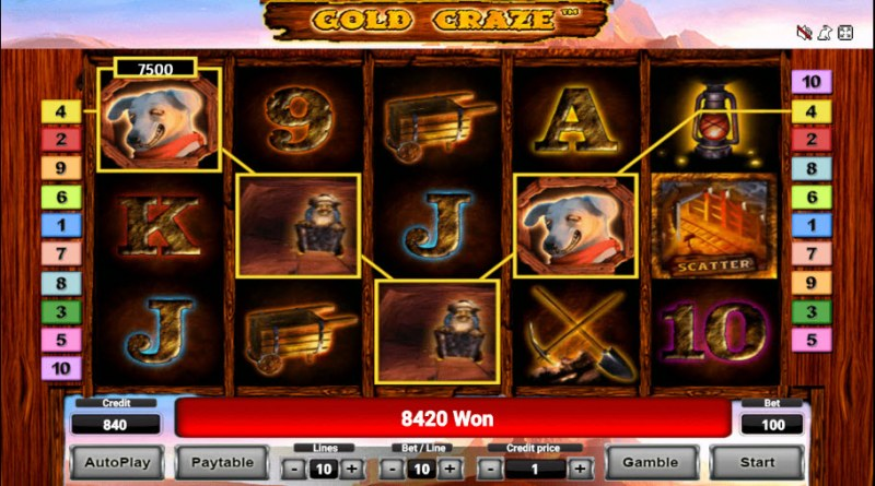 Gold Craze :: Four of a kind Win