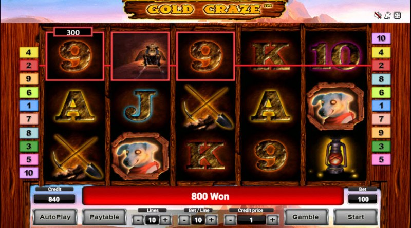 Gold Craze :: Free Spins Game Board