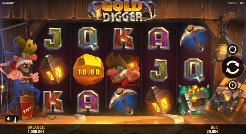 Gold Digger :: Main Game Board