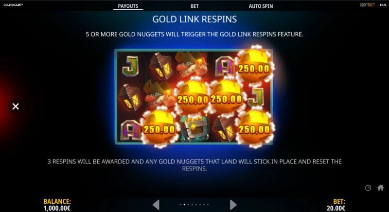 Gold Digger :: Gold Link Respins