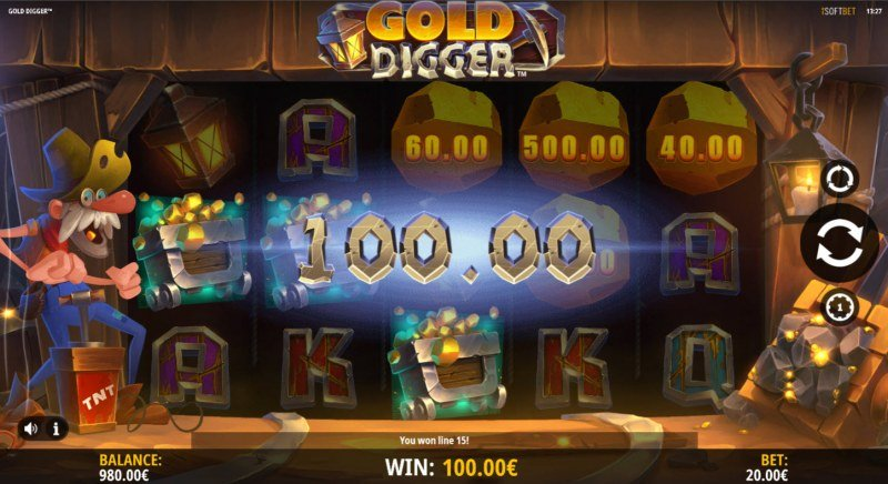 Gold Digger :: A three of a kind win
