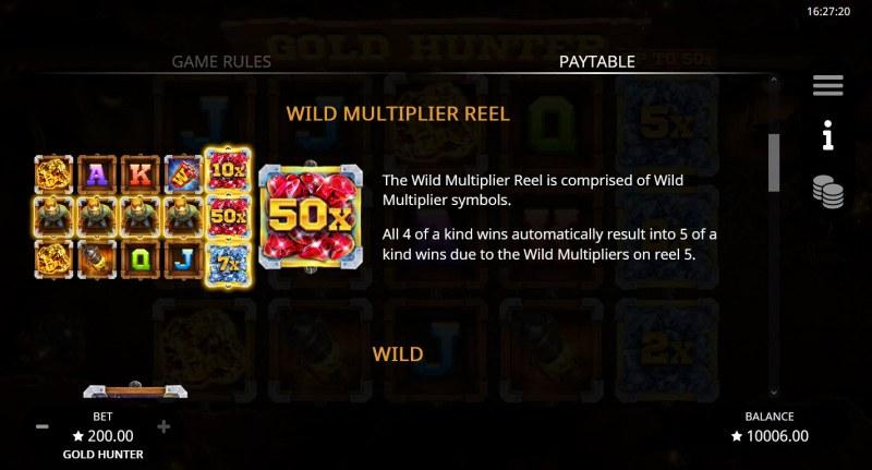 Gold Hunter :: Wild Multiplier Wheel