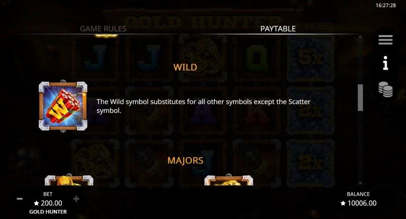 Gold Hunter :: Wild Symbol Rules