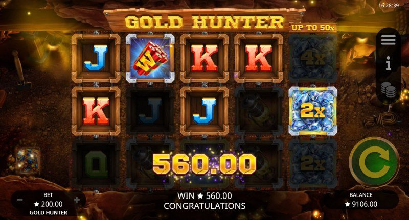 Gold Hunter :: A five of a kind win