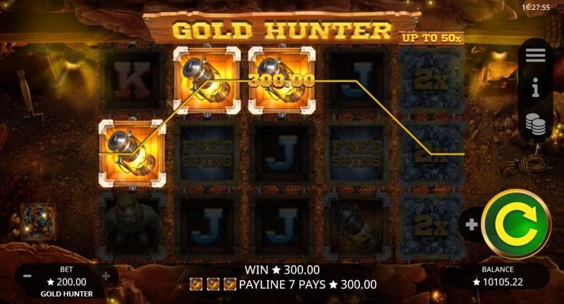Gold Hunter :: A three of a kind win