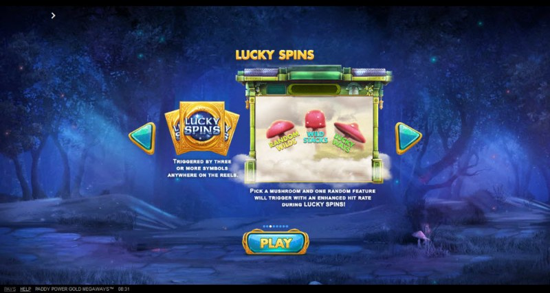 Gold Megaways :: Free Spins Rules