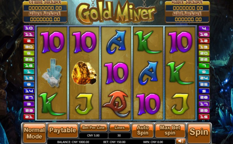 Gold Miner :: Main Game Board