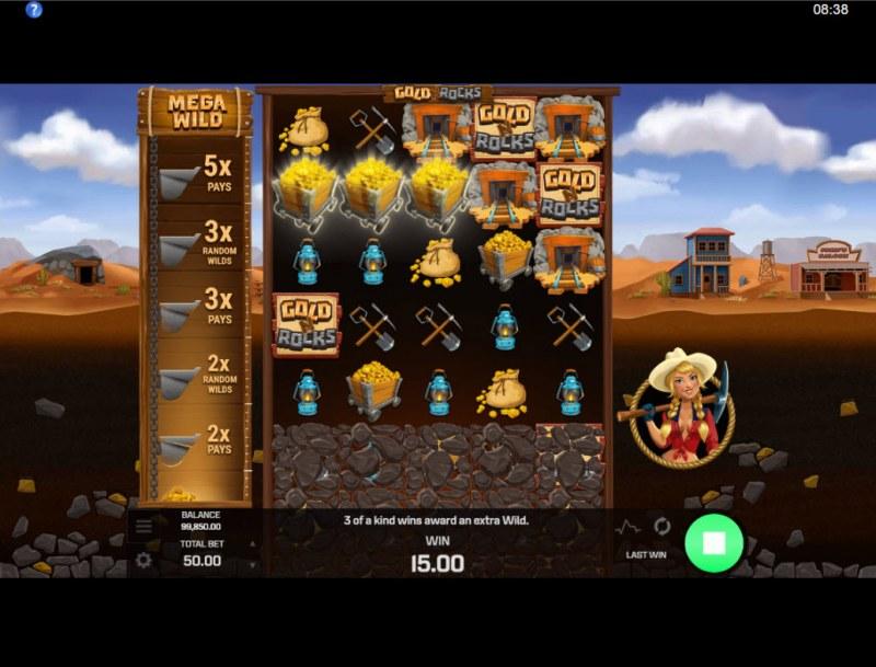 Gold N Rocks :: A three of a kind win