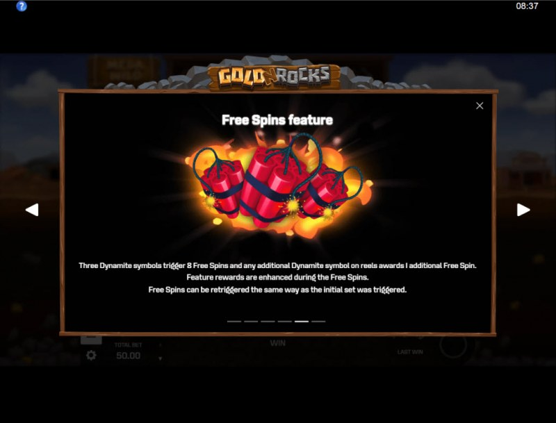 Gold N Rocks :: Free Spin Feature Rules