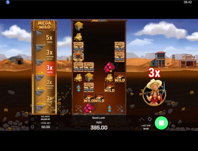 Gold N Rocks :: 3X multiplier awarded
