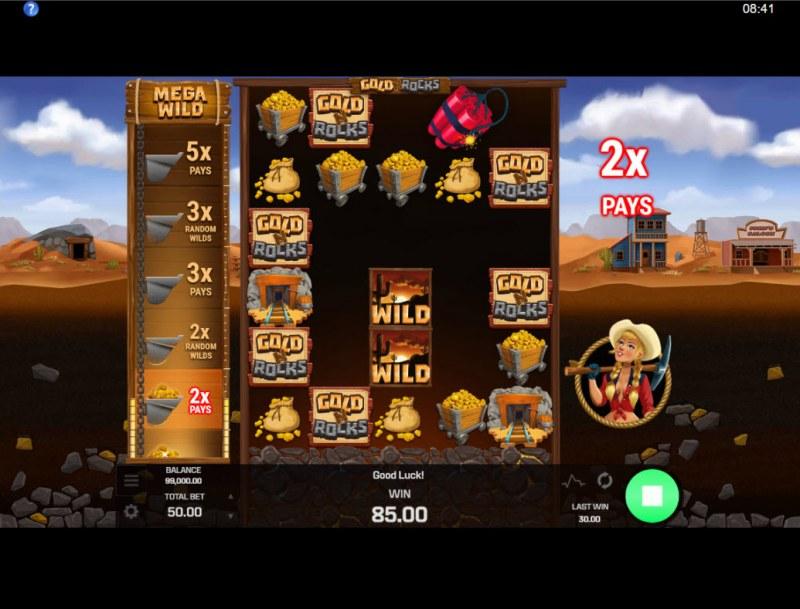 Gold N Rocks :: 2x Multiplier awarded