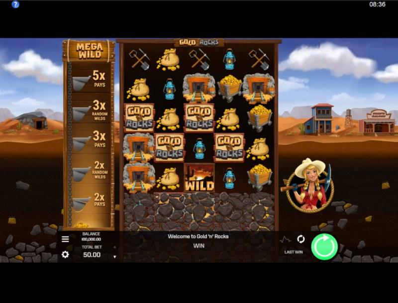 Gold N Rocks :: Main Game Board