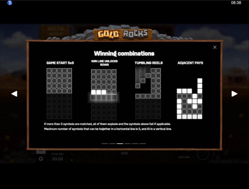 Gold N Rocks :: Winning Combinations