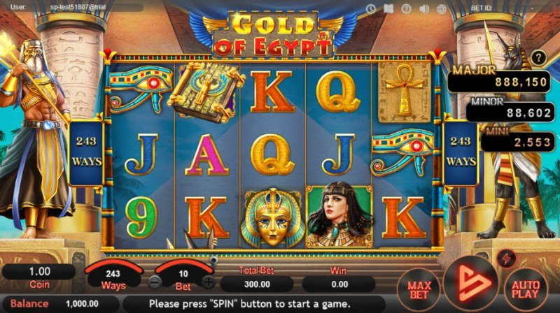 Gold of Egypt :: Main Game Board