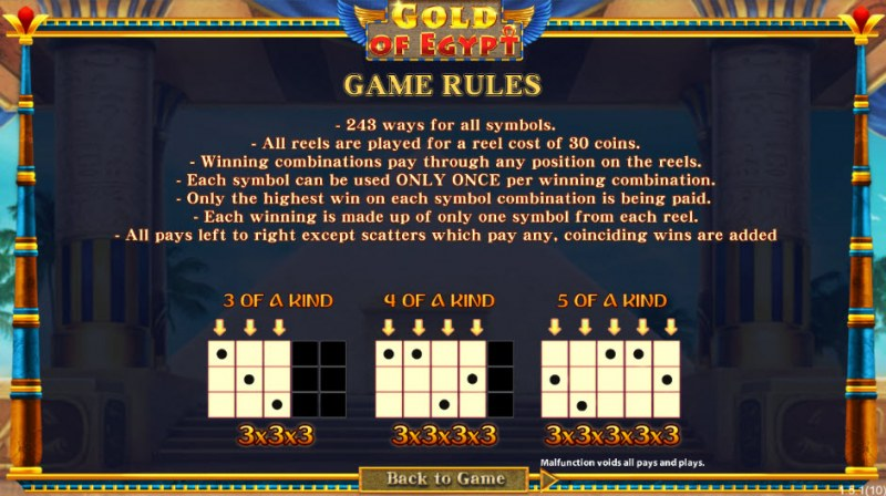 Gold of Egypt :: 243 Ways to Win