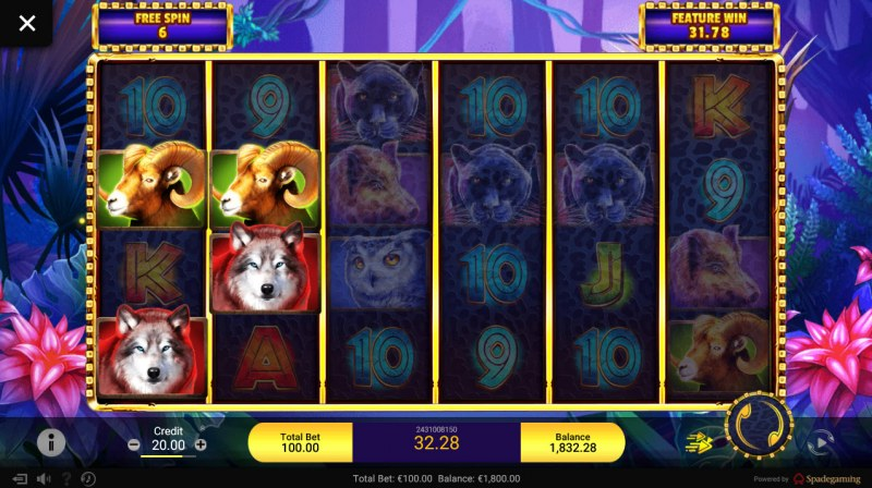 Gold Panther :: Free Spins Game Board