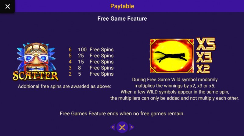 Gold Panther :: Free Spins Rules
