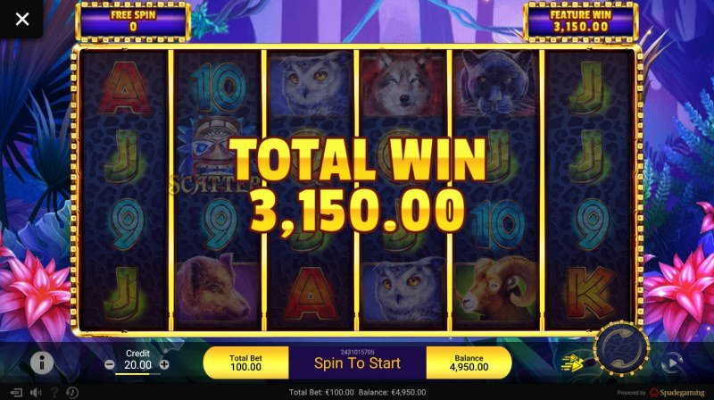 Gold Panther :: Total free spins payout
