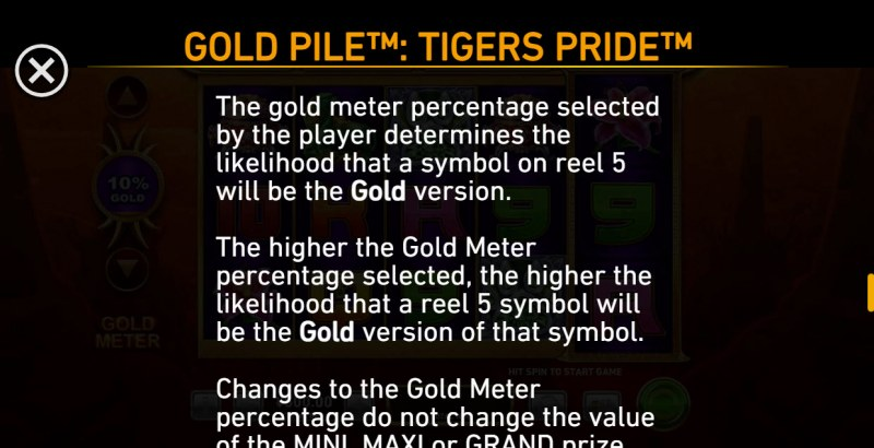 Gold Pile Tigers Pride :: Feature Rules