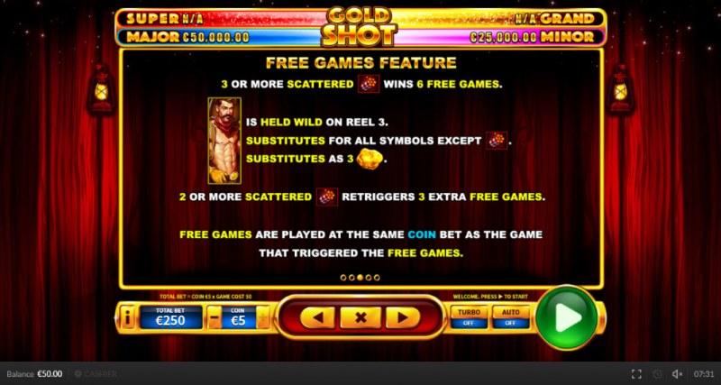 Gold Shot EU :: Free Games Feature