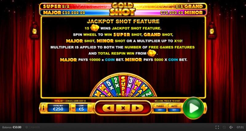Gold Shot EU :: Jackpot Shot Feature