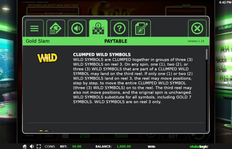 Gold Slam :: Wild Symbols Rules