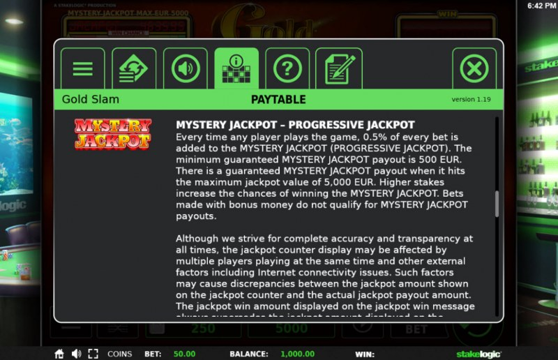 Gold Slam :: Mystery Jackpot Feature