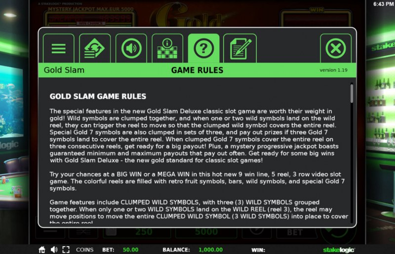 Gold Slam :: General Game Rules