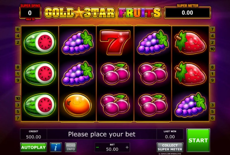 Gold Star Fruits :: Main Game Board