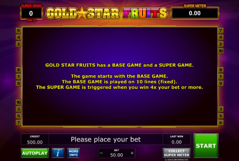 Gold Star Fruits :: Feature Rules