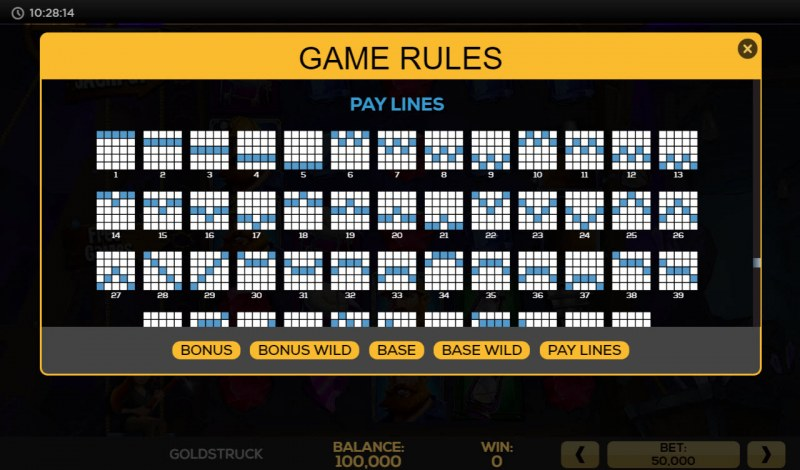 Gold Struck :: Paylines 1-25