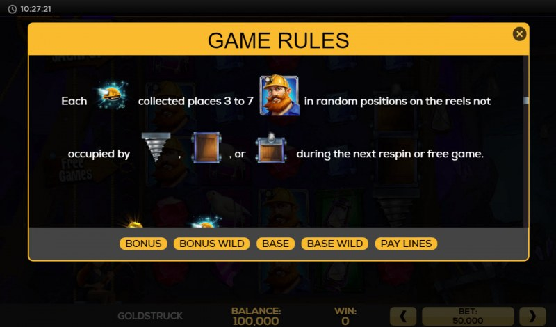 Gold Struck :: Feature Rules