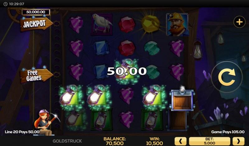 Gold Struck :: Multiple winning combinations