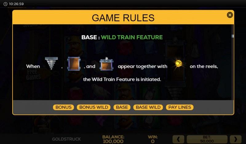 Gold Struck :: Wild Train Feature
