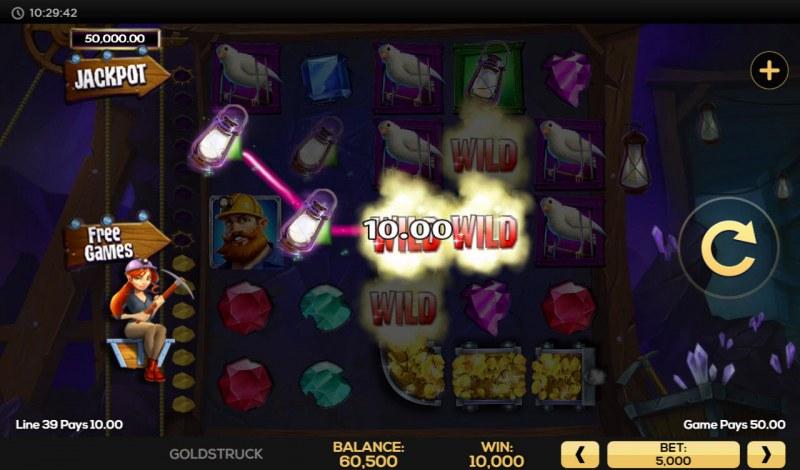 Gold Struck :: Multiple winning paylines
