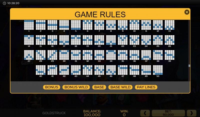 Gold Struck :: Paylines 26-50