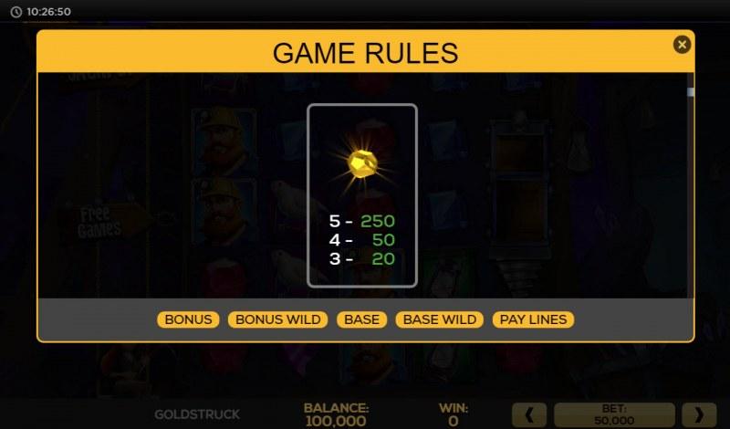 Gold Struck :: Wild Symbols Rules