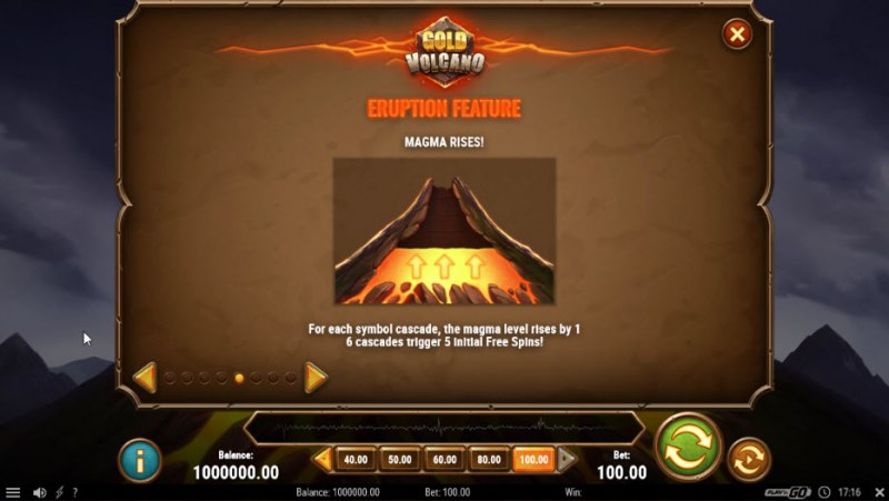 Gold Volcano :: Eruption Feature