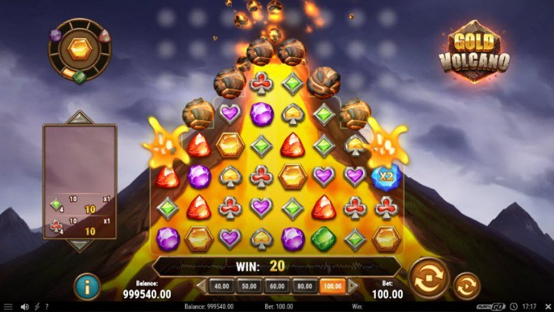 Gold Volcano :: Extra symbols added to the reels