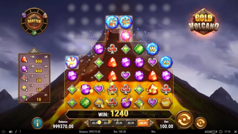 Gold Volcano :: Multiple winning combinations
