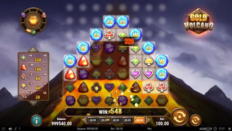 Gold Volcano :: Multiple winning combinations