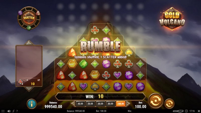Gold Volcano :: Rumble feature triggered