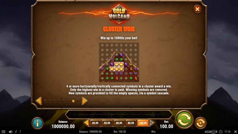 Gold Volcano :: Cluster Wins