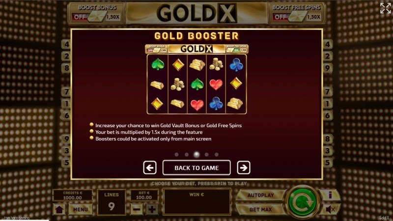 Gold X :: Gold Booster