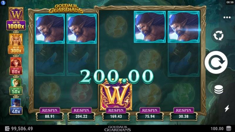 Goldaur Guardians :: A five of a kind win