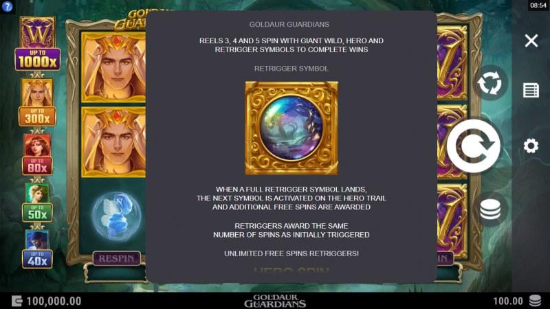 Goldaur Guardians :: Free Spins Retrigger