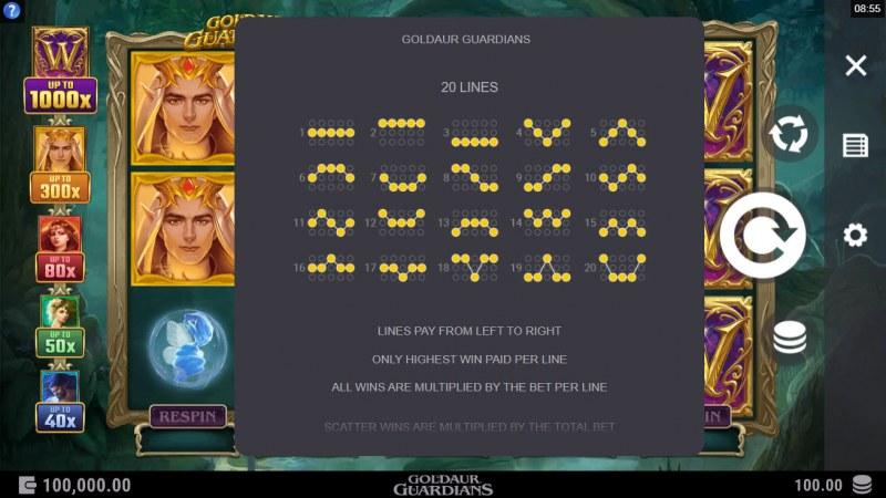 Goldaur Guardians :: Paylines 1-20