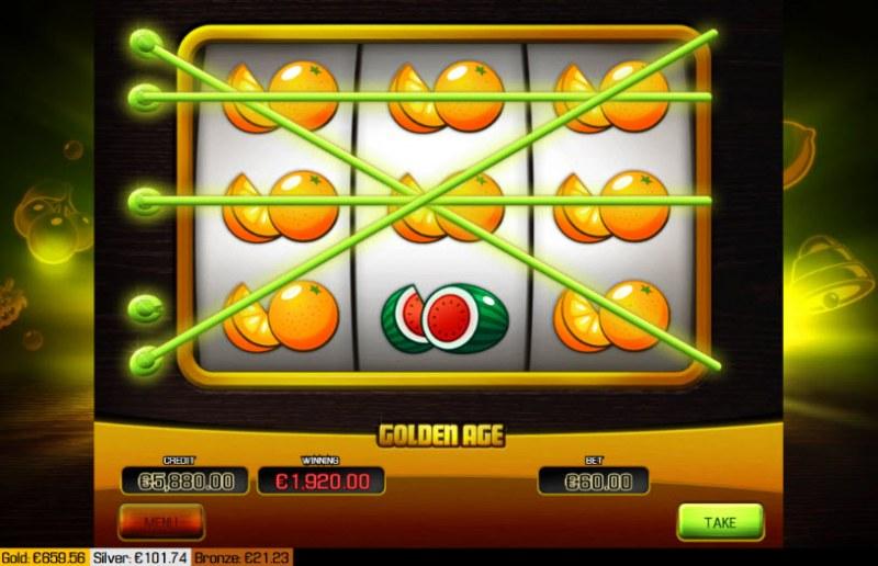 Golden Age :: Multiple winning paylines