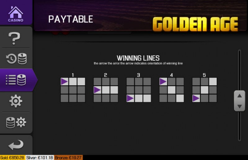 Golden Age :: Paylines 1-5