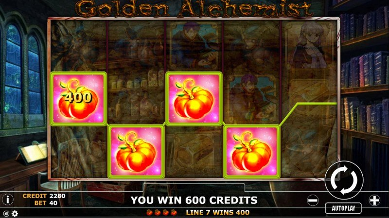 Golden Alchemist :: A four of a kind Win